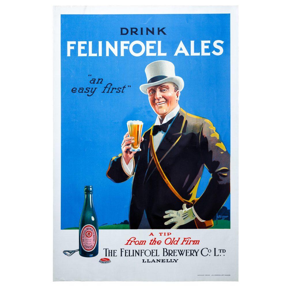 Felinfoel Vintage Poster